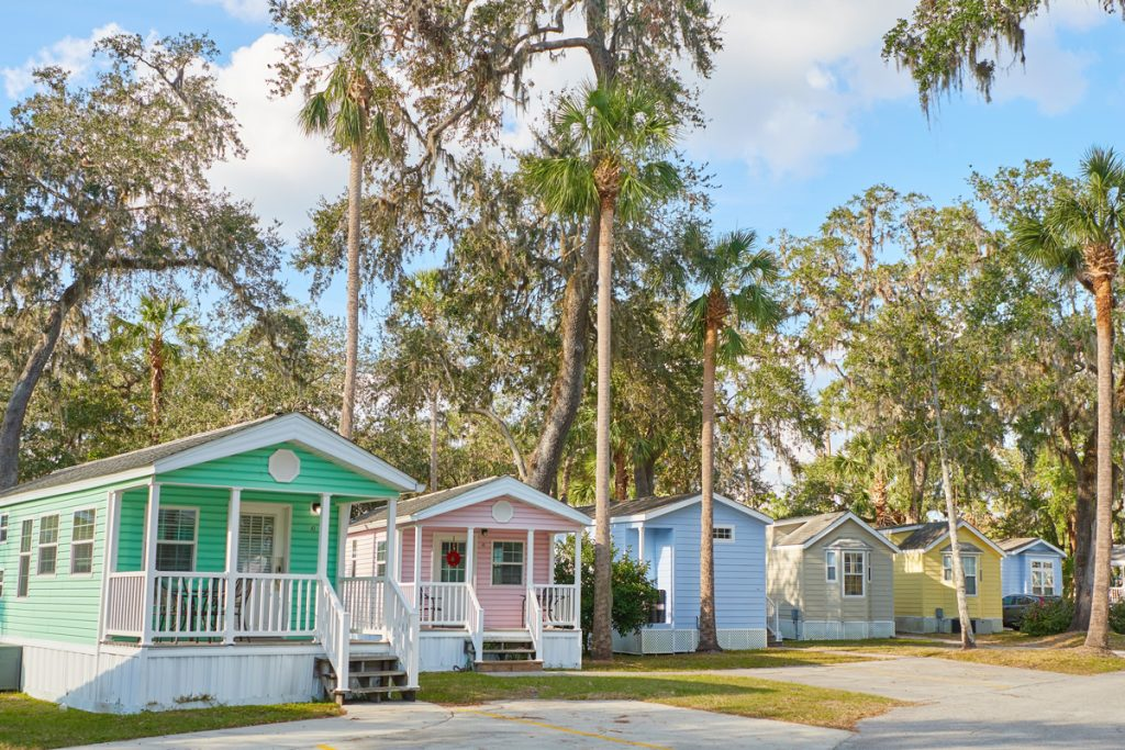 Colorful Cottages at Tropical Palms