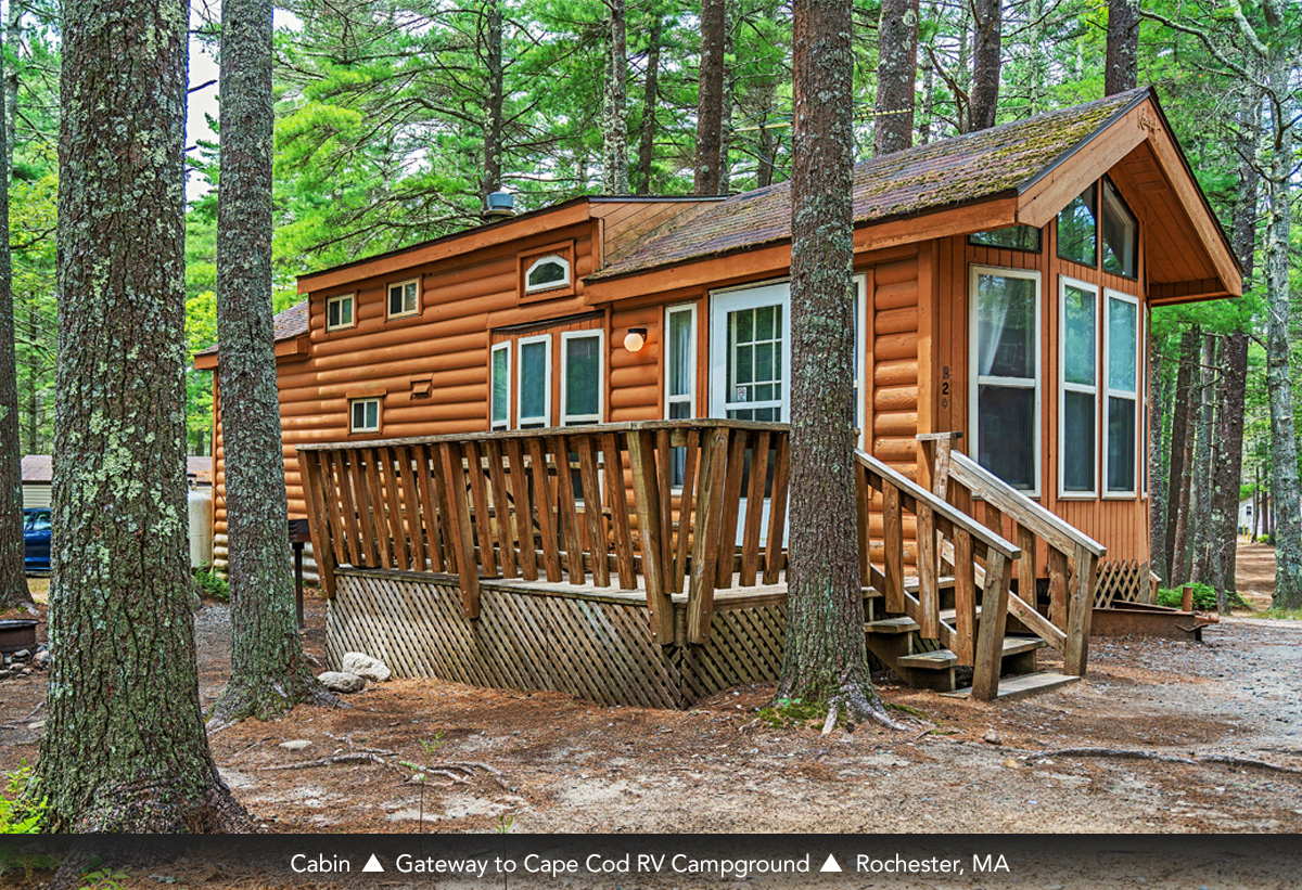 Cabin at Gateway to Cape Cod RV Campground, Rochester, MA