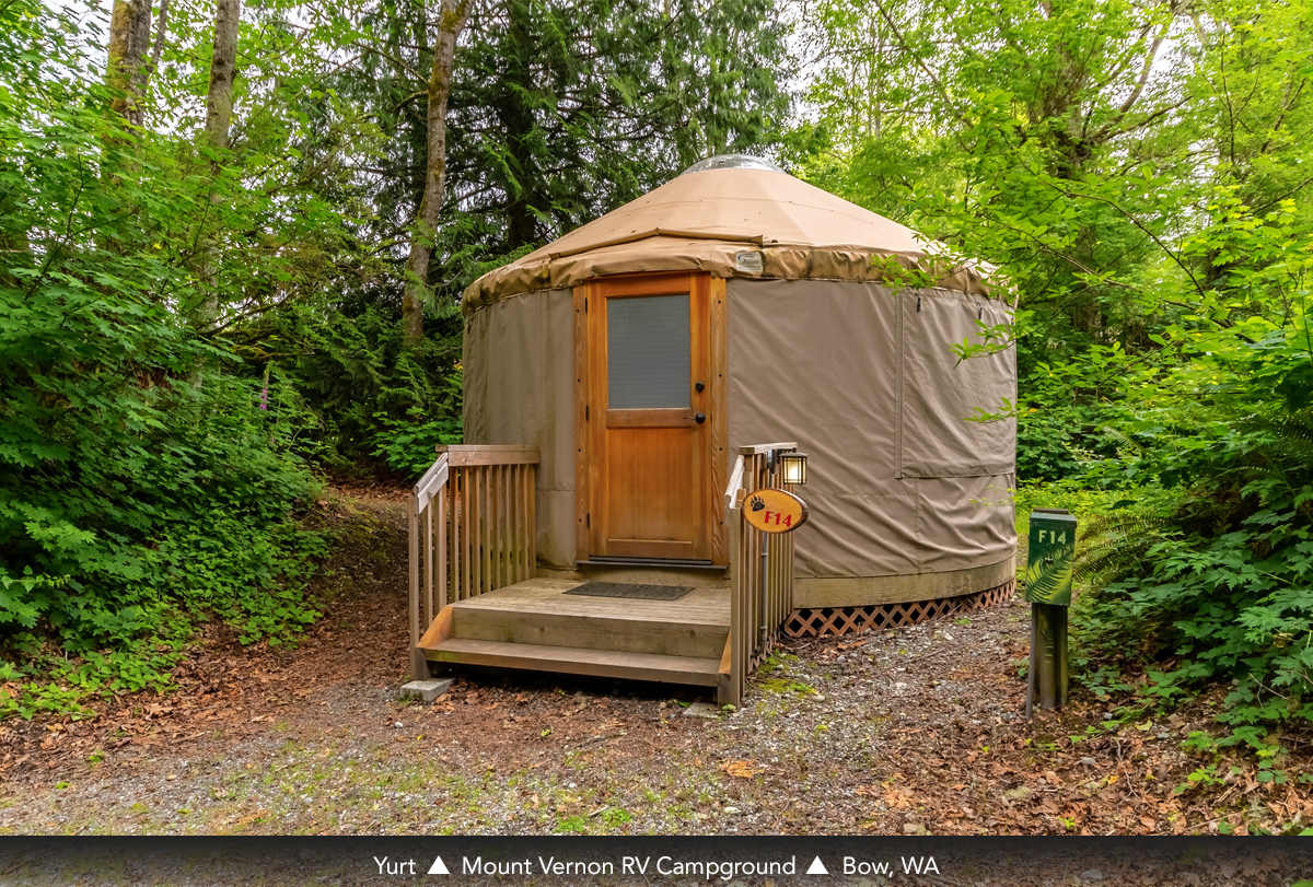 Yurt at Mount Vernon RV Campground, Bow, WA
