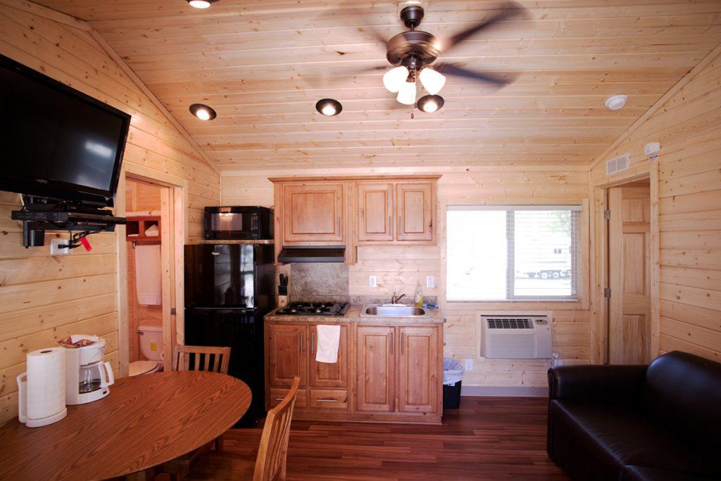 Cabin interior at Soledad Canyon, near Los Angeles.