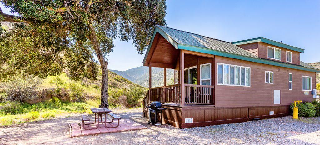 A cozy cabin at Pio Pico, near San Diego.
