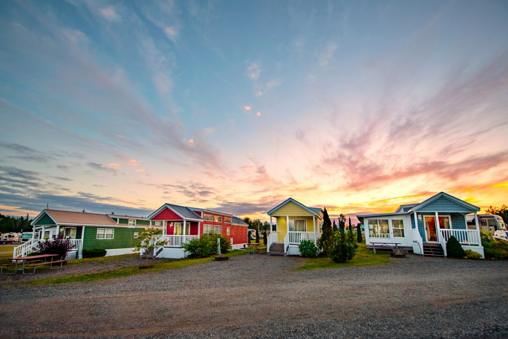 Colorful cottages in Narrows Too ME,